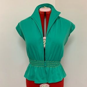 1970s Green Scrunch Christmas Vest